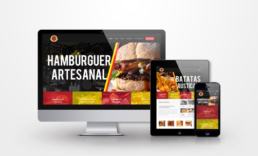 site american hamburgueria por criativizando